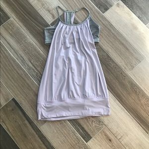 Lululemon NO LIMIT tank Periwinkle and Gray